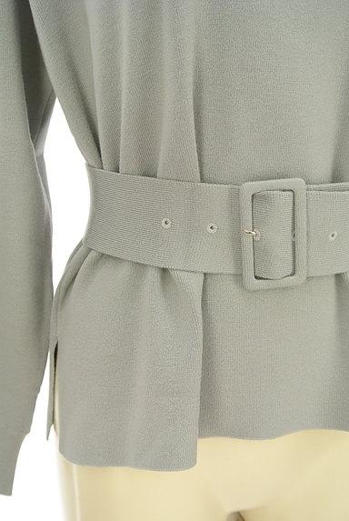 JUSGLITTY(ジャスグリッティー)の古着「ウエストベルト裾スリットニット(ブラウス)」大画像4へ