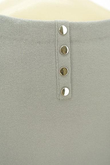 JUSGLITTY(ジャスグリッティー)の古着「ウエストベルト裾スリットニット(ブラウス)」大画像5へ
