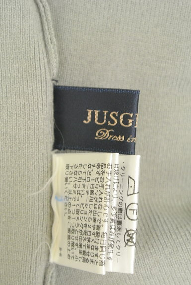 JUSGLITTY(ジャスグリッティー)の古着「ウエストベルト裾スリットニット(ブラウス)」大画像6へ