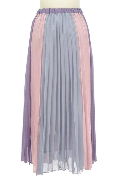 dazzlin(ダズリン)の古着「カラフルプリーツロングスカート(ロングスカート・マキシスカート)」大画像2へ
