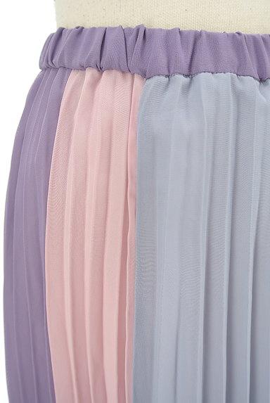 dazzlin(ダズリン)の古着「カラフルプリーツロングスカート(ロングスカート・マキシスカート)」大画像4へ