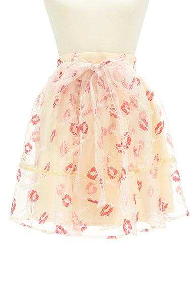 LIZ LISA(リズリサ)の古着「ウエストリボンリップマークシアーミニスカート(スカート)」大画像1へ