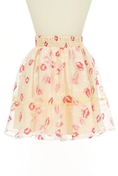 LIZ LISA(リズリサ)の古着「ウエストリボンリップマークシアーミニスカート(スカート)」大画像2へ
