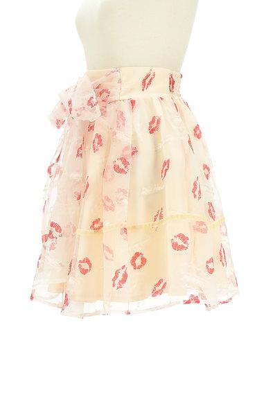 LIZ LISA(リズリサ)の古着「ウエストリボンリップマークシアーミニスカート(スカート)」大画像3へ