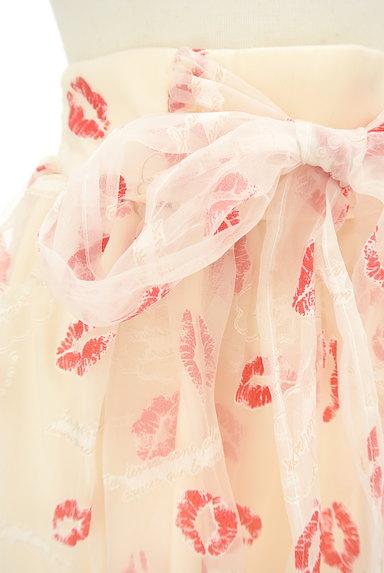 LIZ LISA(リズリサ)の古着「ウエストリボンリップマークシアーミニスカート(スカート)」大画像4へ