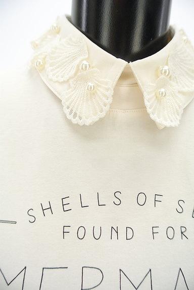 LIZ LISA(リズリサ)の古着「パール付き貝刺繍襟ロゴカットソー(カットソー・プルオーバー)」大画像4へ