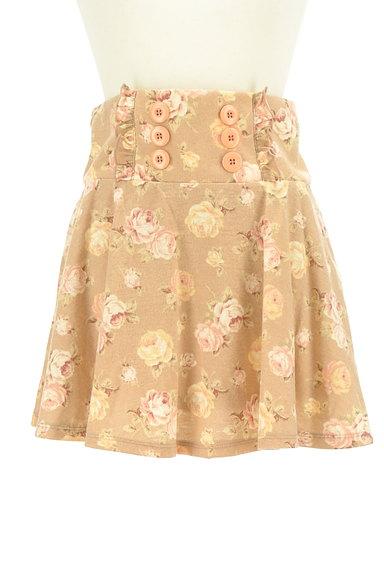 LIZ LISA(リズリサ)の古着「花柄フリルフレアミニスカート(ミニスカート)」大画像1へ