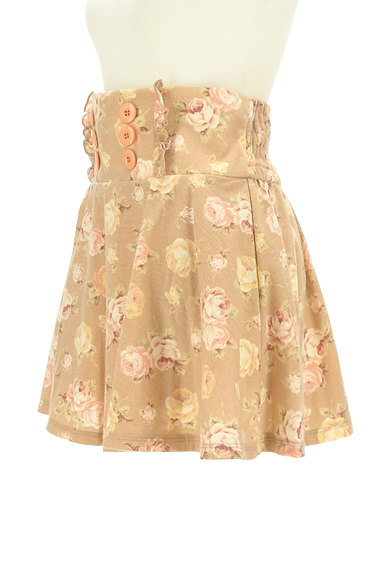LIZ LISA(リズリサ)の古着「花柄フリルフレアミニスカート(ミニスカート)」大画像3へ