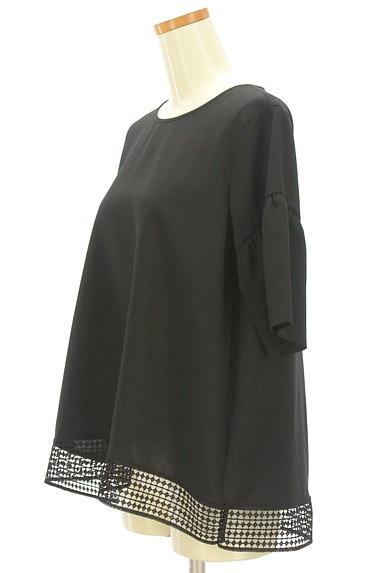 Reflect(リフレクト)の古着「裾レースドロップショルダーカットソー(カットソー・プルオーバー)」大画像3へ