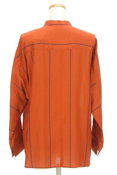 la.f...(ラエフ)の古着「バンドカラーストライプ柄ドルマンシャツ(ブラウス)」大画像2へ