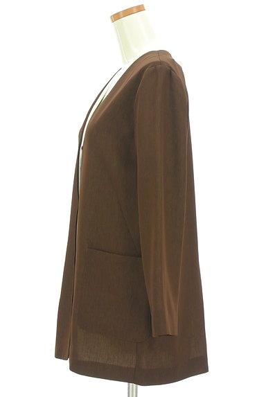 nano・universe(ナノユニバース)の古着「Vネックノーカラーミドル丈ジャケット(ジャケット)」大画像3へ