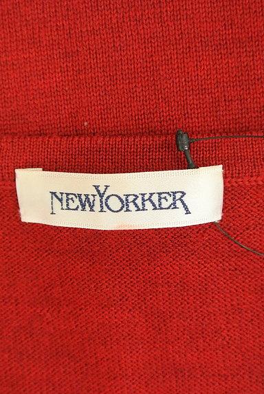 NEW YORKER(ニューヨーカー)の古着「透かしドットボーダーカーディガン(カーディガン・ボレロ)」大画像6へ
