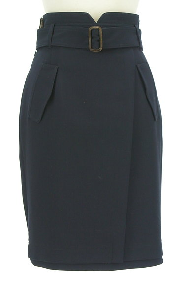 Apuweiser riche(アプワイザーリッシェ)の古着「無地×チェックリバーシブル膝丈スカート(スカート)」大画像1へ