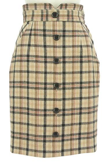 Apuweiser riche(アプワイザーリッシェ)の古着「無地×チェックリバーシブル膝丈スカート(スカート)」大画像4へ