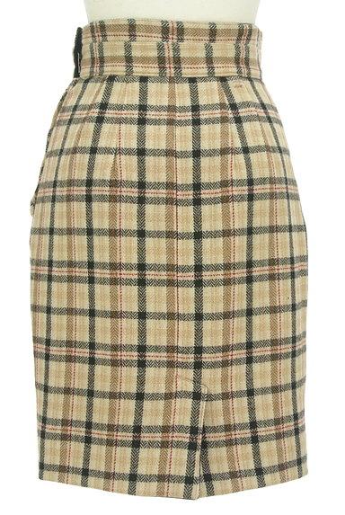 Apuweiser riche(アプワイザーリッシェ)の古着「無地×チェックリバーシブル膝丈スカート(スカート)」大画像5へ