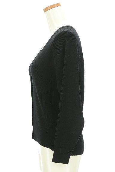 OPAQUE.CLIP(オペークドットクリップ)の古着「パールボタンリブカーディガン(カーディガン・ボレロ)」大画像3へ