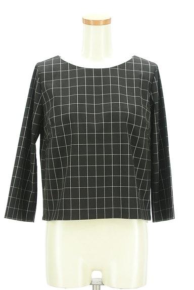 UNTITLED(アンタイトル)の古着「グラフチェック柄裾タックカットソー(カットソー・プルオーバー)」大画像1へ
