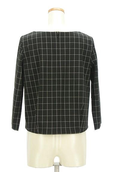 UNTITLED(アンタイトル)の古着「グラフチェック柄裾タックカットソー(カットソー・プルオーバー)」大画像2へ