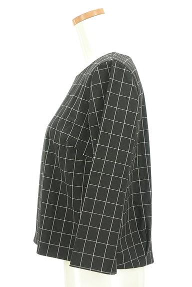 UNTITLED(アンタイトル)の古着「グラフチェック柄裾タックカットソー(カットソー・プルオーバー)」大画像3へ