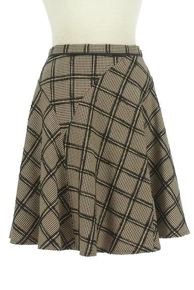 JUSGLITTY(ジャスグリッティー)の古着「チェック柄膝上丈起毛フレアスカート(スカート)」大画像1へ