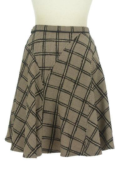 JUSGLITTY(ジャスグリッティー)の古着「チェック柄膝上丈起毛フレアスカート(スカート)」大画像2へ
