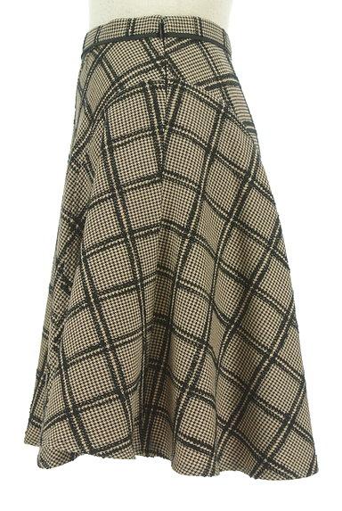 JUSGLITTY(ジャスグリッティー)の古着「チェック柄膝上丈起毛フレアスカート(スカート)」大画像3へ