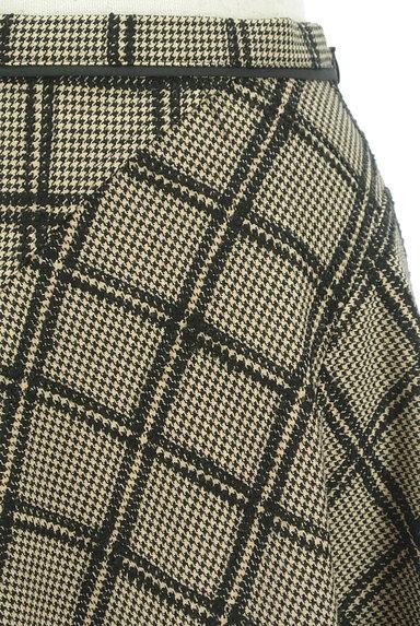 JUSGLITTY(ジャスグリッティー)の古着「チェック柄膝上丈起毛フレアスカート(スカート)」大画像4へ