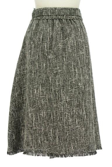 Fabulous Angela(ファビュラスアンジェラ)の古着「ベルト付フリンジフリルツイードスカート(ロングスカート・マキシスカート)」大画像2へ