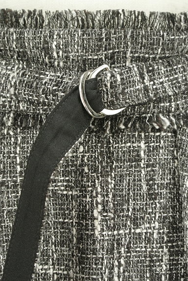 Fabulous Angela(ファビュラスアンジェラ)の古着「ベルト付フリンジフリルツイードスカート(ロングスカート・マキシスカート)」大画像4へ