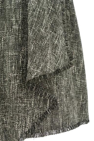 Fabulous Angela(ファビュラスアンジェラ)の古着「ベルト付フリンジフリルツイードスカート(ロングスカート・マキシスカート)」大画像5へ