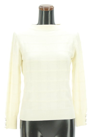 PROPORTION BODY DRESSING(プロポーションボディ ドレッシング)の古着「装飾モックネックチェック織地ニット(ニット)」大画像1へ