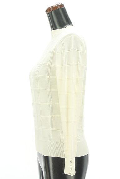 PROPORTION BODY DRESSING(プロポーションボディ ドレッシング)の古着「装飾モックネックチェック織地ニット(ニット)」大画像3へ