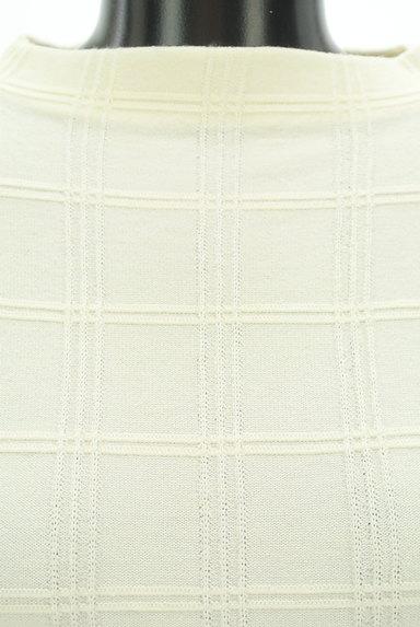 PROPORTION BODY DRESSING(プロポーションボディ ドレッシング)の古着「装飾モックネックチェック織地ニット(ニット)」大画像4へ