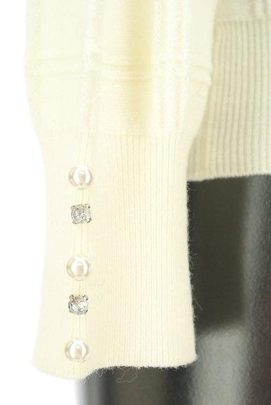PROPORTION BODY DRESSING(プロポーションボディ ドレッシング)の古着「装飾モックネックチェック織地ニット(ニット)」大画像5へ