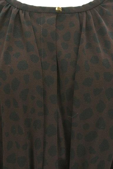 ROPE(ロペ)の古着「ベルト付きダルメシアン柄膝丈ワンピ(ワンピース・チュニック)」大画像4へ