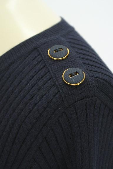 LAISSE PASSE(レッセパッセ)の古着「ニット×シフォン膝下丈ワンピース(ワンピース・チュニック)」大画像4へ