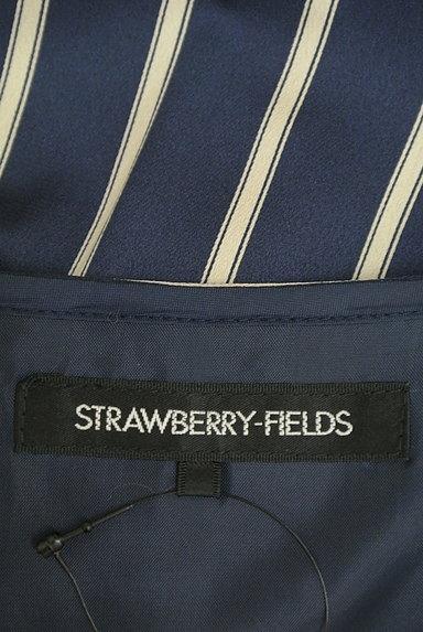 STRAWBERRY-FIELDS(ストロベリーフィールズ)の古着「ストライプ柄微光沢ミモレ丈ワンピ(ワンピース・チュニック)」大画像6へ