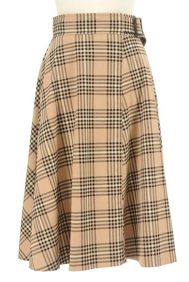 LAISSE PASSE(レッセパッセ)の古着「ミモレ丈チェックフレアスカート(ロングスカート・マキシスカート)」大画像1へ