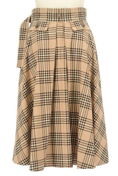 LAISSE PASSE(レッセパッセ)の古着「ミモレ丈チェックフレアスカート(ロングスカート・マキシスカート)」大画像2へ