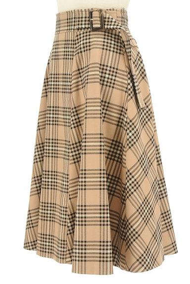 LAISSE PASSE(レッセパッセ)の古着「ミモレ丈チェックフレアスカート(ロングスカート・マキシスカート)」大画像3へ