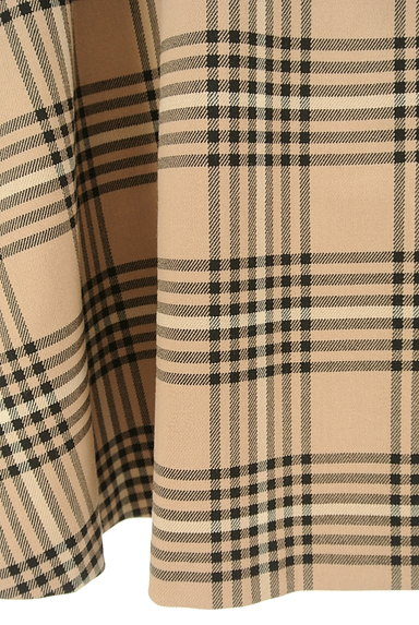LAISSE PASSE(レッセパッセ)の古着「ミモレ丈チェックフレアスカート(ロングスカート・マキシスカート)」大画像5へ