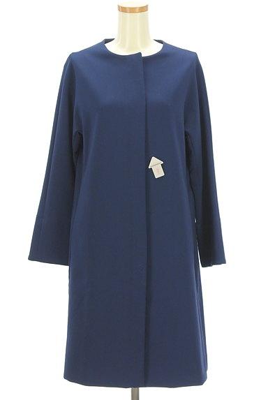 STRAWBERRY-FIELDS(ストロベリーフィールズ)の古着「ノーカラーロングコート(コート)」大画像4へ
