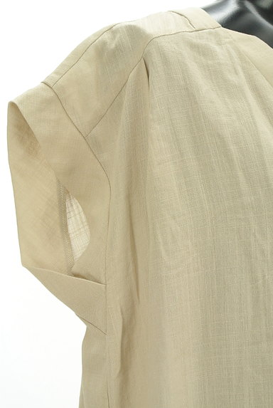 ROSE BUD(ローズバッド)の古着「Vネックフレンチスリーブシアーワンピ(ワンピース・チュニック)」大画像4へ