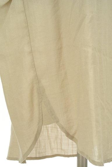 ROSE BUD(ローズバッド)の古着「Vネックフレンチスリーブシアーワンピ(ワンピース・チュニック)」大画像5へ
