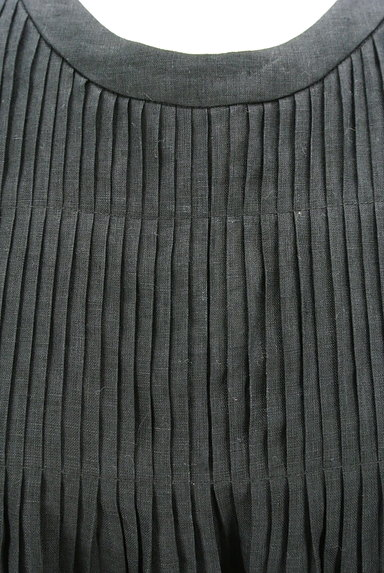 mila schon(ミラショーン)の古着「ピンタックブラウスリネンワンピ(ワンピース・チュニック)」大画像4へ