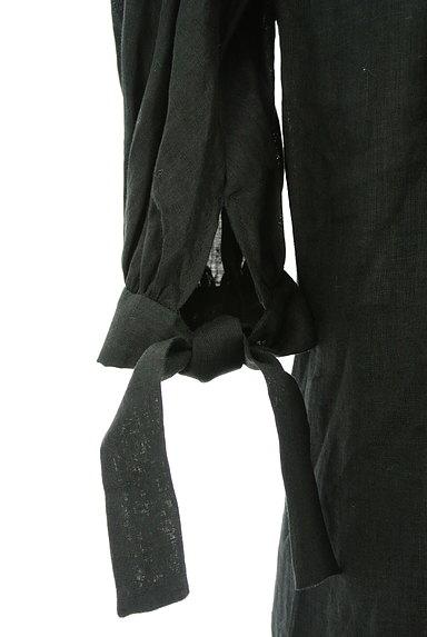 mila schon(ミラショーン)の古着「ピンタックブラウスリネンワンピ(ワンピース・チュニック)」大画像5へ