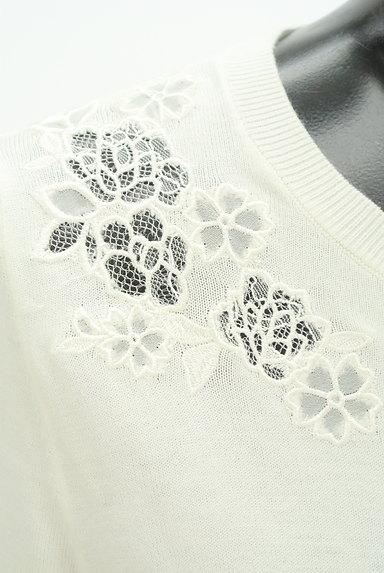 PROPORTION BODY DRESSING(プロポーションボディ ドレッシング)の古着「シアー花刺繍ニット(ニット)」大画像4へ