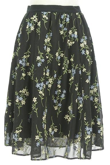 Apuweiser riche(アプワイザーリッシェ)の古着「フラワー刺繍フレアスカート(スカート)」大画像1へ