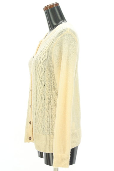 SM2(サマンサモスモス)の古着「ケーブル編みローゲージカーディガン(カーディガン・ボレロ)」大画像3へ