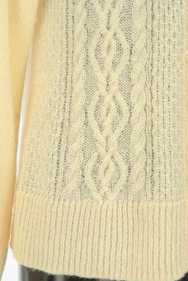 SM2(サマンサモスモス)の古着「ケーブル編みローゲージカーディガン(カーディガン・ボレロ)」大画像5へ